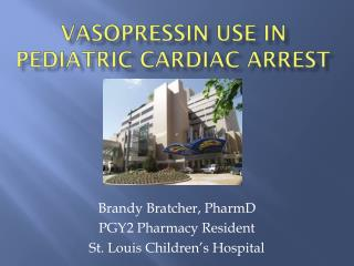 Vasopressin Use in Pediatric cardiac arrest
