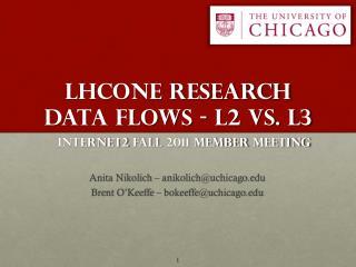 LHCONE Research Data Flows  - L2 vs. L3