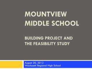BUILDING PROJECT AND  THE FEASIBILITY STUDY