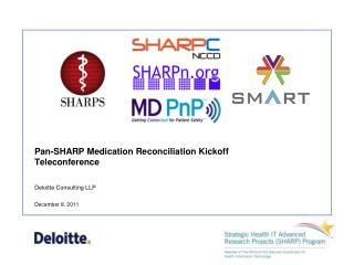 Pan-SHARP Medication Reconciliation Kickoff Teleconference