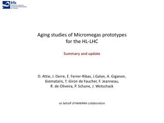 Aging studies  of  Micromegas prototypes for the  HL-LHC Summary  and  update