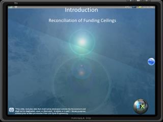 Introduction Reconciliation of Funding Ceilings