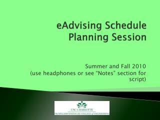 eAdvising  Schedule  Planning Session