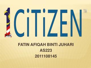 FATIN AFIQAH BINTI JUHARI AS223 2011108145