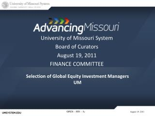 Selection of Global Equity Investment Managers UM