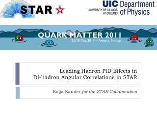 Leading Hadron PID Effects in  Di-hadron Angular Correlations in STAR