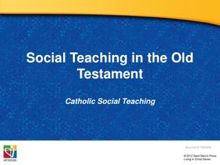 Social Teaching in the Old Testament