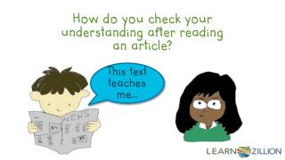 How do you check your understanding after reading an article?