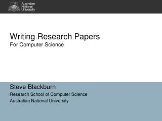 Writing Research Papers For Computer Science