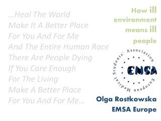 Olga Rostkowska EMSA Europe