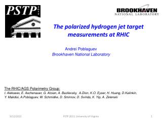 The polarized hydrogen jet target measurements at RHIC