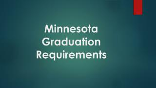 Minnesota Graduation Requirements