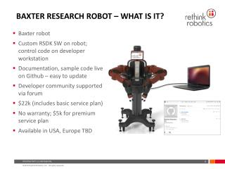Baxter Research Robot – What is it?