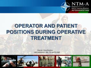 OPERATOR AND PATIENT POSITIONS DURING OPERATIVE TREATMENT
