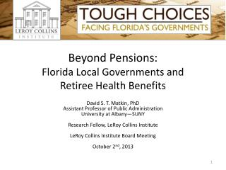 Beyond Pensions: Florida Local Governments and  Retiree Health Benefits