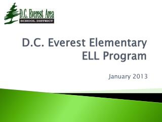 D.C. Everest Elementary ELL Program