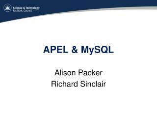 APEL & MySQL