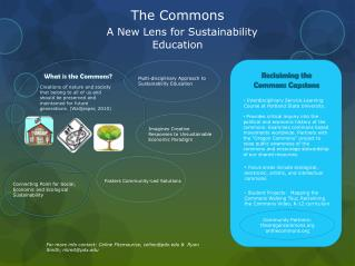 The  Commons A New Lens for Sustainability Education