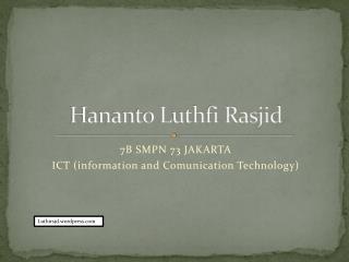 Hananto Luthfi Rasjid