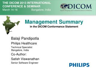 Management Summary  in the DICOM Conformance Statement