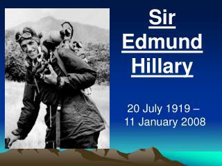 Sir Edmund Hillary