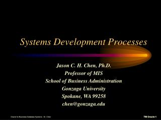 Systems Development Processes