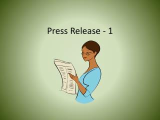 Press Release - 1
