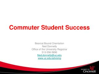 Commuter Student Success
