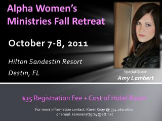 Alpha Women's Ministries Fall Retreat
