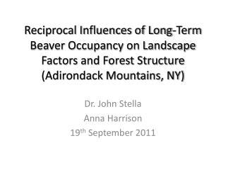 Dr. John Stella Anna Harrison 19 th  September 2011
