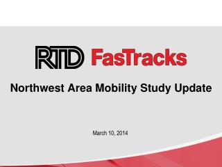 Northwest Area Mobility Study Update