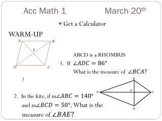 Acc  Math 1  March 20 th