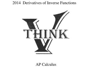 2014  Derivatives of Inverse Functions
