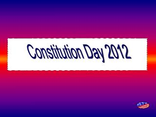 Constitution Day 2012