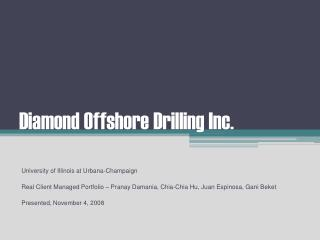 Diamond Offshore Drilling Inc.