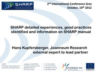 2 nd  International Conference Graz October , 10 th  2012