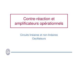 Contre-r action et amplificateurs op rationnels