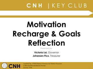 Motivation Recharge & Goals Reflection