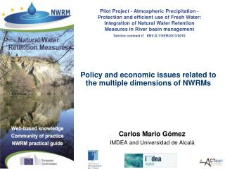 Policy  and economic issues related to the multiple dimensions of NWRMs