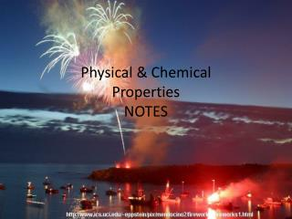 Physical & Chemical Properties  NOTES