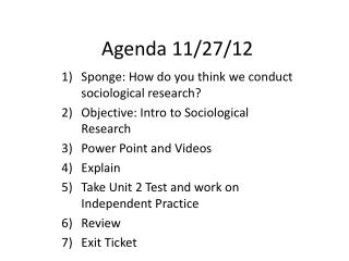 Agenda  11/27/12
