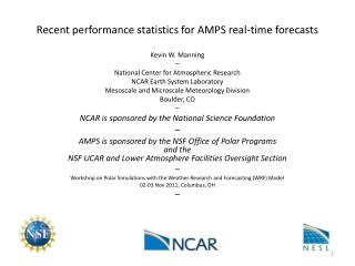 Recent performance statistics for AMPS real-time forecasts