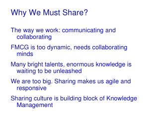 Why We Must Share?