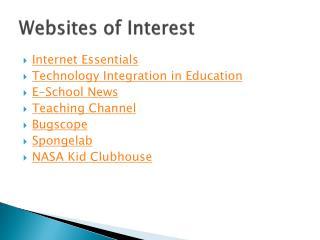 Websites of Interest