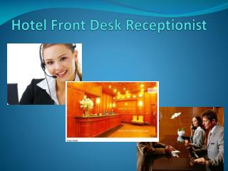 Hotel Front Desk Receptionist