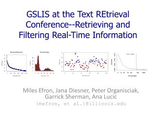 GSLIS at the Text REtrieval Conference--Retrieving and Filtering Real-Time  Information