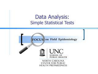 Data Analysis: Simple Statistical Tests