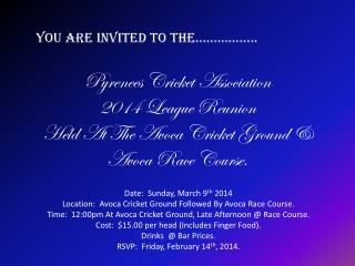 You Are Invited To The……………..