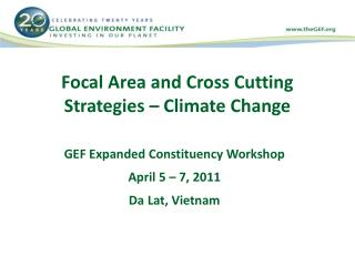 Focal Area and Cross Cutting Strategies – Climate Change