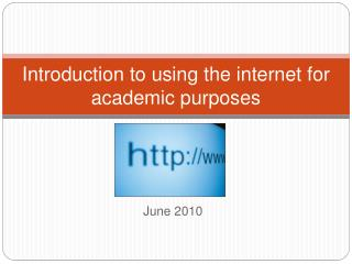 Introduction to using the internet for academic purposes